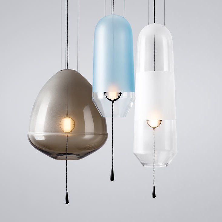 handblown glass pendant lighting by via lighting design - Glass Pendant Lighting