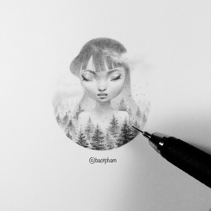 So instead of Inktober, I'm working on my own #Tinytober .  Here's the first entry, a mini giantess.  We'll see how long I last this month.  -  I'm using an Alvin draft-tec .3mm ✏️  -  #minimonday #drawing #dreamgirl #allaboutface #minidreamer #pencildrawing #giantess #miniature #drawanyway #nightdreams #wip #workinprogress #worksonpaper #smallworks #traditionalart #ooak #originalart #artistsoninstagram #baopham #baophamart #baotpham  #nightwork #pineforest #forestcanopy #pinetrees #cloudy
