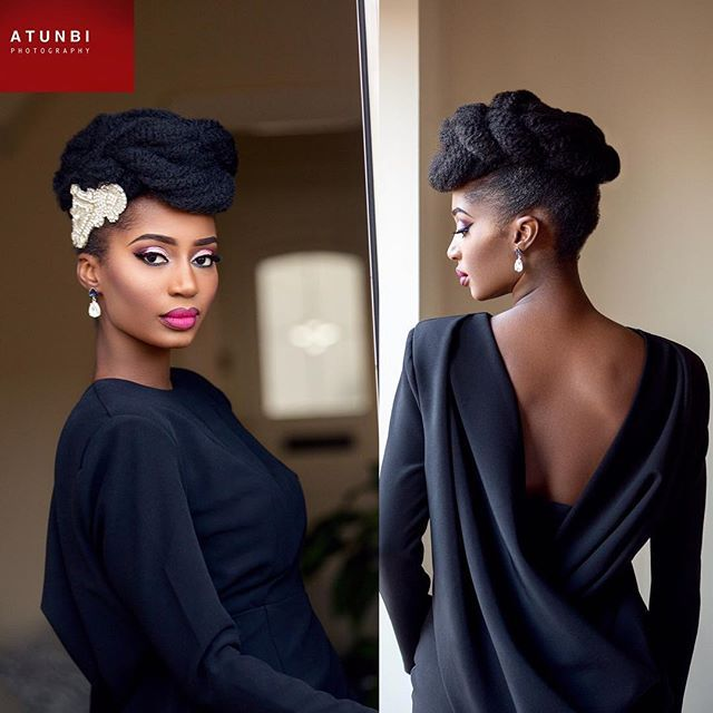 The other beauty that featured in the #FromRetroToAfro bridal hair collection! Who says you can't wear your natural/Afro hair smartly and neatly? #Bri…