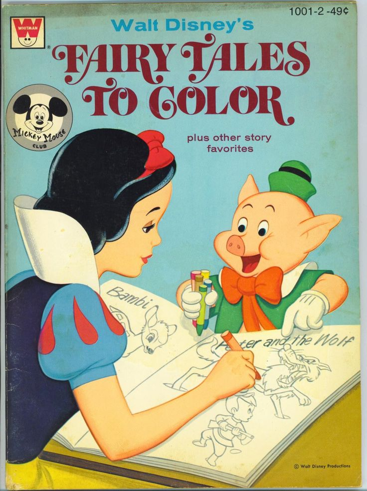 Vintage Disney Coloring Book With Snow White For Scrapbooking Collage Paper Ephemera Coloring Books Vintage Coloring Books Disney Coloring Pages