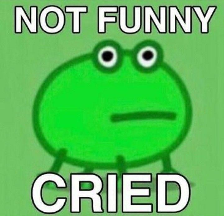 Not Funny Cried Frog Meme Stupid Memes Cute Memes