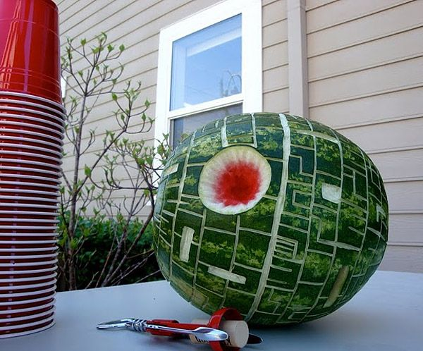 Death Star Watermelons and Cantaloupes - this is for my nephews