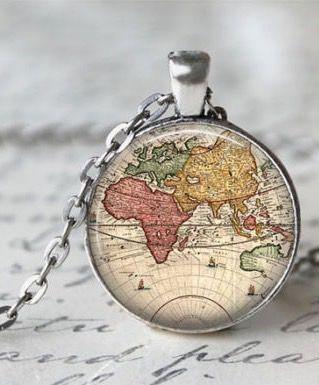 Best 25 map necklace ideas on pinterest world map necklace world map necklace gumiabroncs Image collections