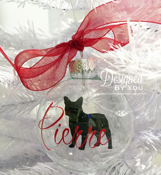 Every dog needs his or her own ornament on the family Christmas tree! Personalized Floating French Bulldog Ornaments are PERFECT! Purchase on 12/5 and 30% is donated to French Bulldog Rescue Network (