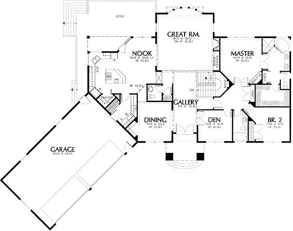Plan 69270am european luxury plan with angled garage for Angled garage floor plans