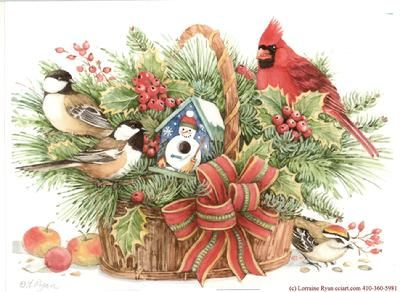 602 best art images on pinterest marjolein bastin painting and holly basket with birds marjolein bastin m4hsunfo