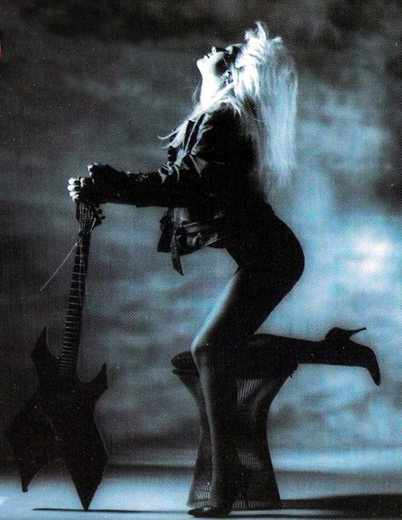 Whoever said women can't play heavy metal guitar was a jerkwad, who never met Lita Ford.