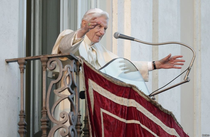 """Pope Benedict XVI pledged his """"unconditional reverence and obedience"""" to his successor Thursday, then left the Vatican as the first Roman Catholic Church leader to resign in 600 years."""