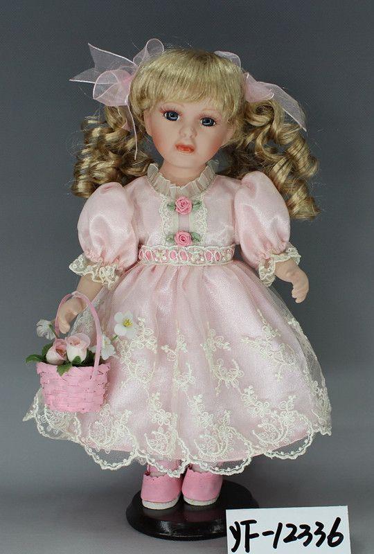 美屋家居摆件 陶瓷洋娃娃 12寸提小花篮 生日结婚节日 创意礼品-淘宝网全球站