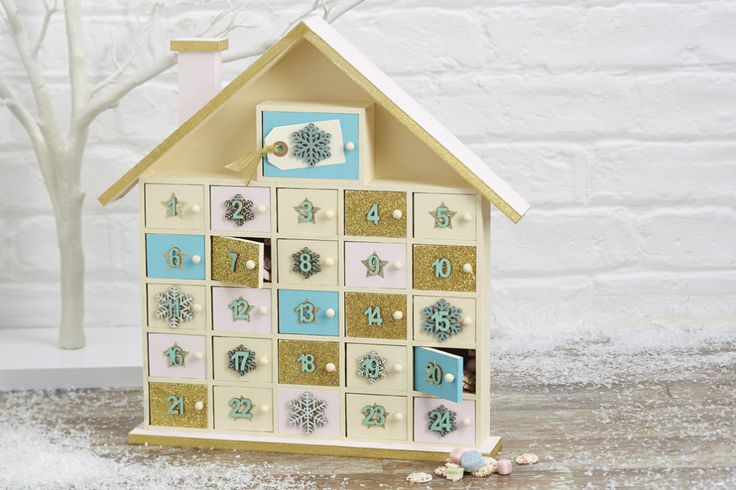 How to Make an Advent House #Christmas #advent                                                                                                                                                                                 More