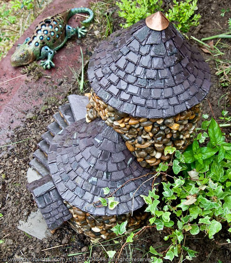 Image result for types of roofs for outdoor fairy houses