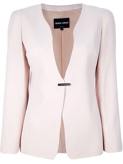 GIORGIO ARMANI - fitted blazer 1Light Pink Blazers, Armani Pink, Blazers Jackets, Compr Giorgio, Pink Fit, Armani Blazers, Giorgio Armani, Armani Fit, Fit Blazers