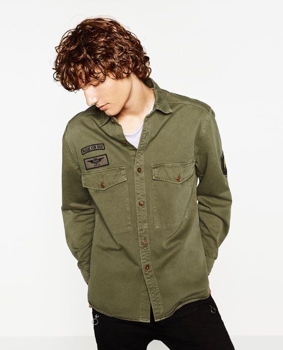 Moda-Hombre-Tendencias-en-ropa-para-hombre-otoño-invierno-2016-2017-camisa-estilo-militar