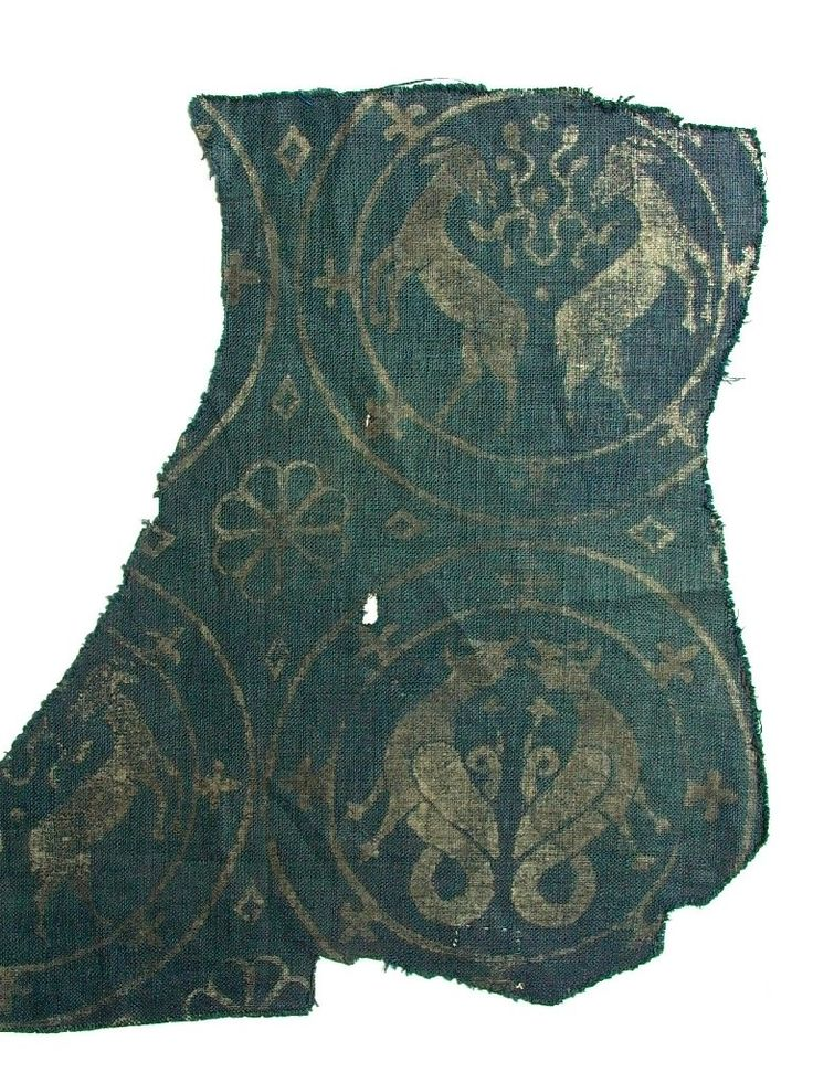 Textile Fragment with Roundels - German - 12th century