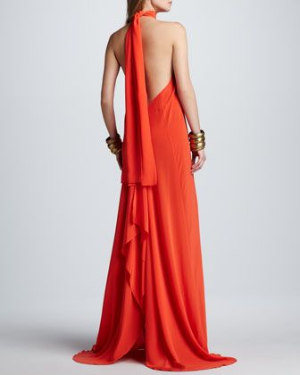 Jasara Low-Back Halter Maxi Dress at CUSP.
