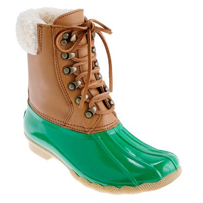 Holiday #coloroftheyear-inspired gift idea for the outdoorsman (or woman!): Sperry Top-Sider® for J.Crew short Shearwater boots available at @J.Crew, $138