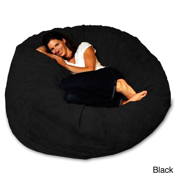 Turn on a movie and sink into this comfortable memory foam bean bag. Covered in 100-percent microsuede, this bean bag chair is a cozy seating option. The cover is removable for easy machine washing at
