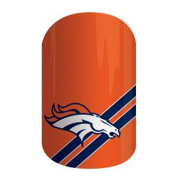 Get gameday style with Jamberry's NFL Collection. Our officially licensed NFL products feature your favorite team logo and colors so you can cheer your team to victory with 'Denver Broncos' on your nails.  #JamsByColey #Jamberry #NFLCollectionByJamberry