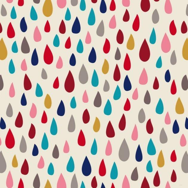 Tissu Il pleut il mouille coloris Pomme d'Amour par Aime comme Marie