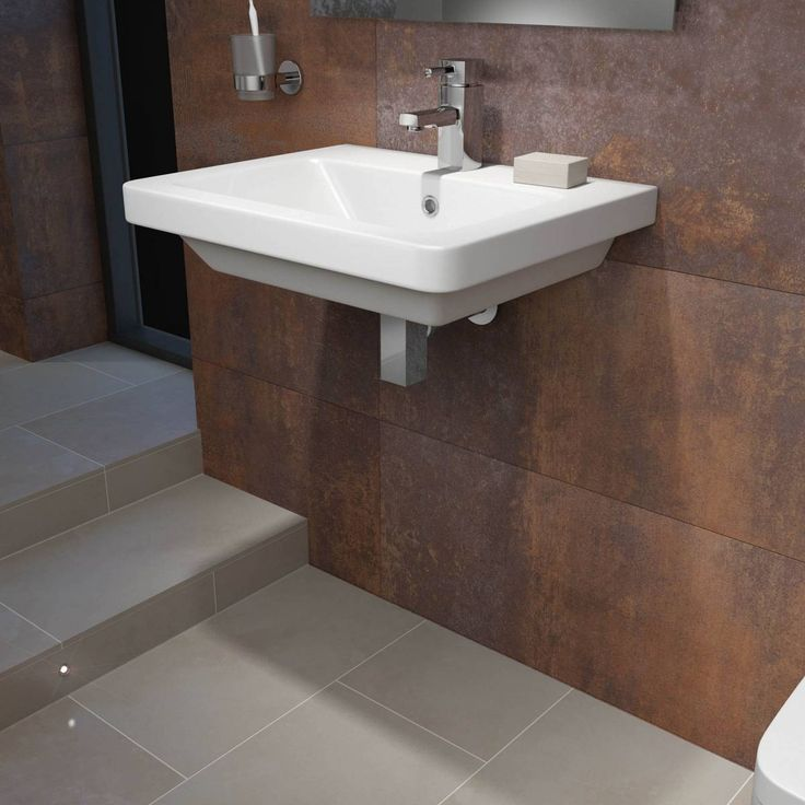 Verso 1th 600mm Wall Hung Basin Victoria Plumb Beautiful Rooms Pinterest