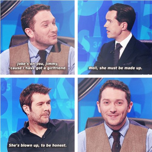 When his reaction was even funnier than the joke. | 19 Times Jon Richardson Was The Most Hilarious Man In Britain