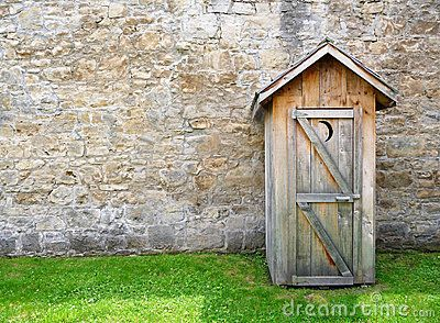 Stone Outhouse In Gray Stock Photo - Image: 46858864 & 9 best outhouse doors images on Pinterest   Primitive country ... Pezcame.Com