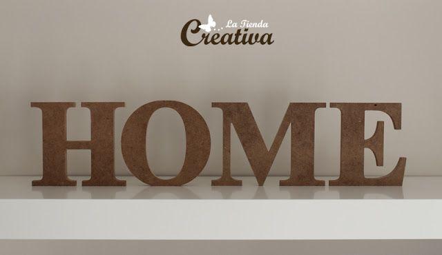 Decoracion Letras Home ~ Home en DM  La Tienda Creativa  Letras para decorar y mucho m?s