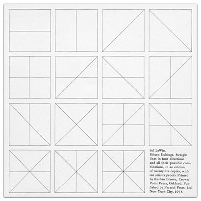 Straight Lines in Four Directions & All Their Possible Combinations - Sol Lewitt prints