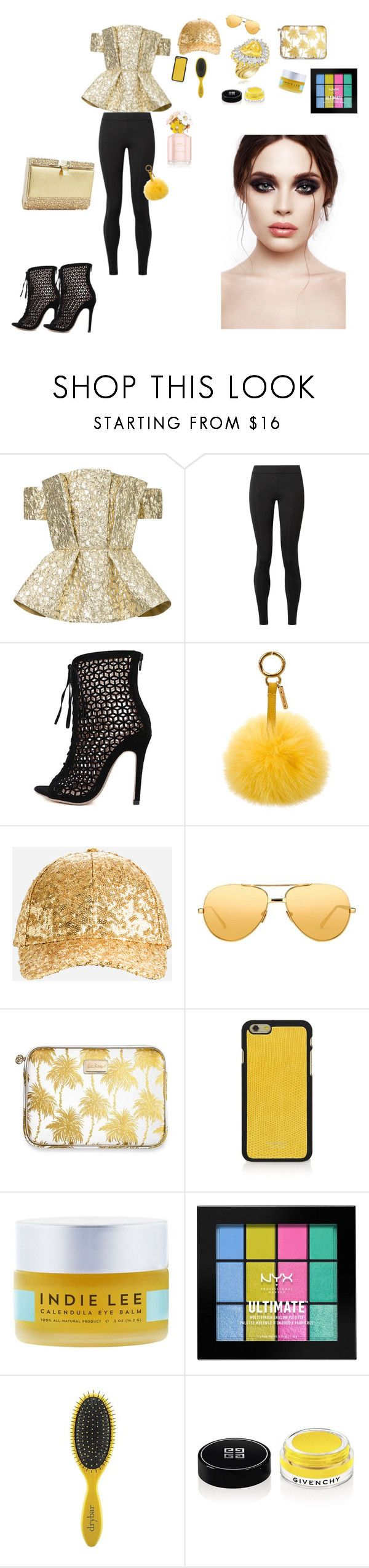 """Bez naslova #80"" by hilda-vi ❤ liked on Polyvore featuring Bambah, The Row, Zoe Adams, Fendi, Ashley Stewart, Lilly Pulitzer, Vianel, Indie Lee, NYX and Drybar"