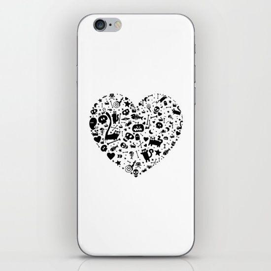 Halloween Heart iPhone & iPod Skin