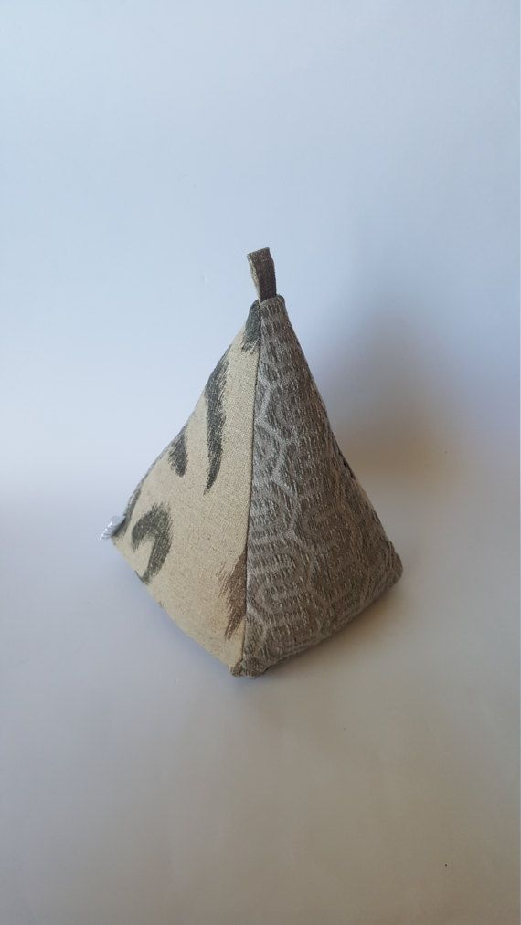 Extra Large, Extra Heavy, Patterned Gray Fabric Doorstop, Easy to Wash, Door Stopper