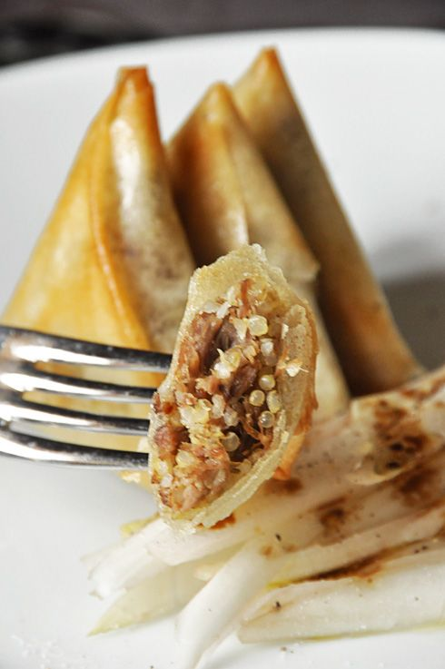 Samossas au canard confit, foie gras et quinoa - la cuisine de Nathalie - La cuisine de Nathalie