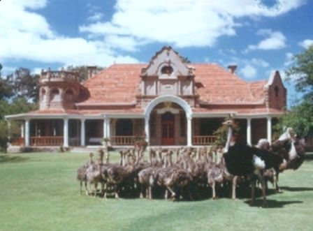 This is an Oudtshoorn Feather Palace where one of the ostrich barons of yesteryear lived. It is fully restored and can be seen on a private Melberry tour