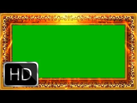 Wedding Frame Motion Background Video-Free Green Screen