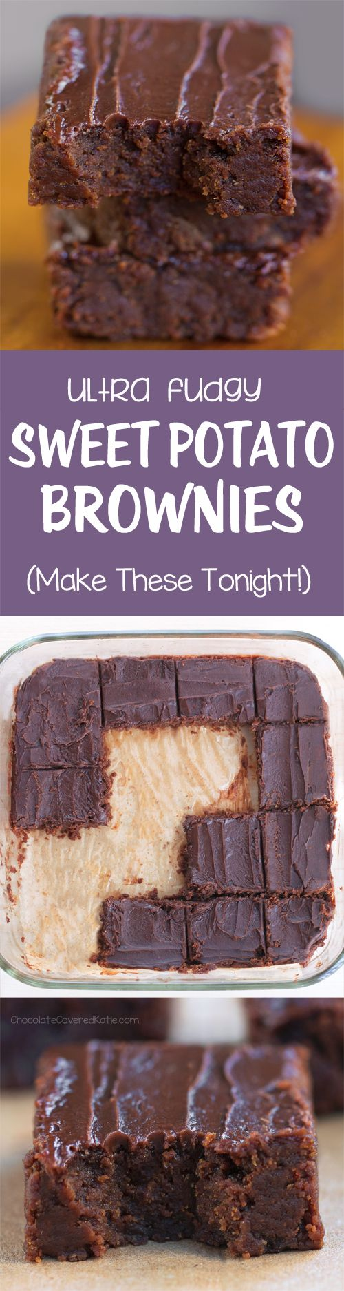 I was shocked at how good these turned out! The sweet potato brownies are amazing!