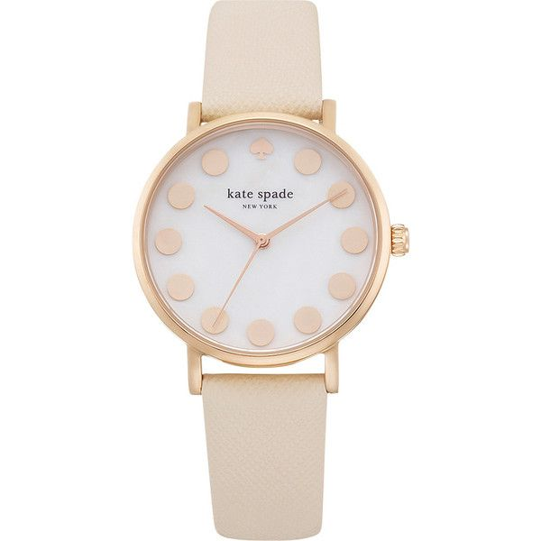 kate spade watches Metro Watch Women's ($166) ❤ liked on Polyvore featuring jewelry, watches, accessories, relógios, braceletes, fashion accessories and tan