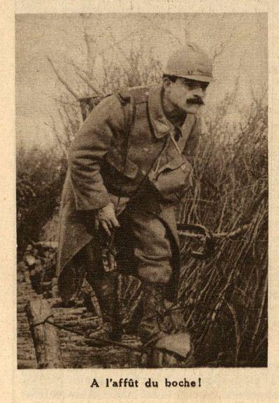 """WWI, March 1916, Verdun; """"On the lookout for the Germans"""". La Tribune Républicaine/Gallica"""