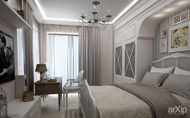 Детская комната для девочки: интерьер, зd визуализация, квартира, дом, спальня, французский, прованс, стена, 10 - 20 м2, интерьер #interiordesign #3dvisualization #apartment #house #bedroom #dormitory #bedchamber #dorm #roost #french #provence #wall #10_20m2 #interior arXip.com