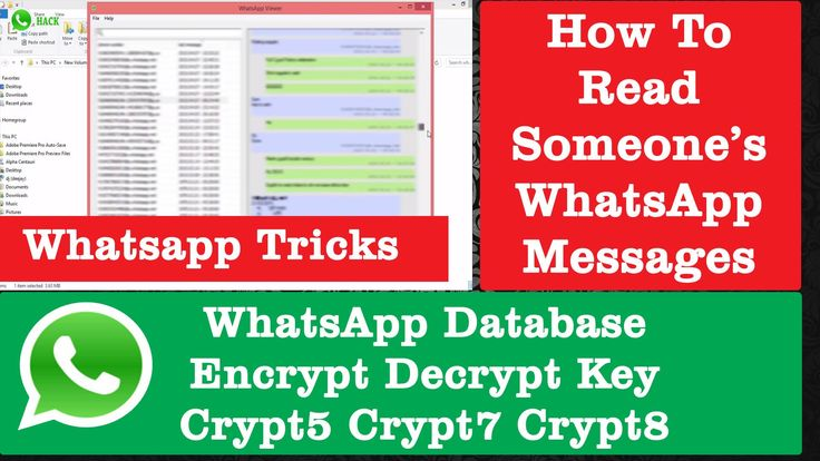 How to Read Anyone's Whatsapp Messages | Spy Whatsapp | Whatsapp Database Encrypt Decrypt Key Crypt5 Crypt7 Crypt8