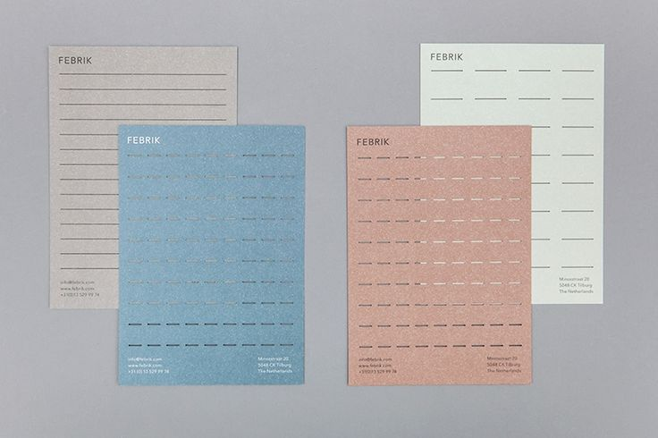 Raw Color – Identity for Febrik a Dutch brand of interior textiles founded by Renee Merckx and Jos Pelders