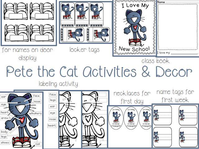 Pete the Cat Activities & Decor Freebies