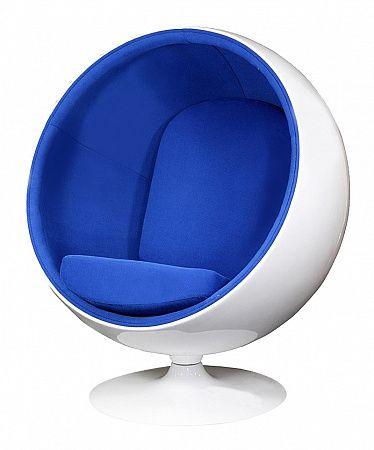 Кресло Eero Ball Chair Синяя Шерсть Цена 186000 руб.