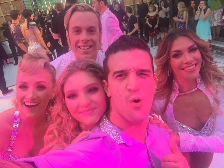 Nastia Liukin, Riker Lynch, Willow Shields, Mark Ballas, and Allison Holker