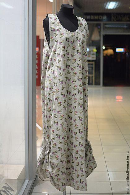 Платья ручной работы. Ярмарка Мастеров - ручная работа Сарафан летний из льна. Handmade.