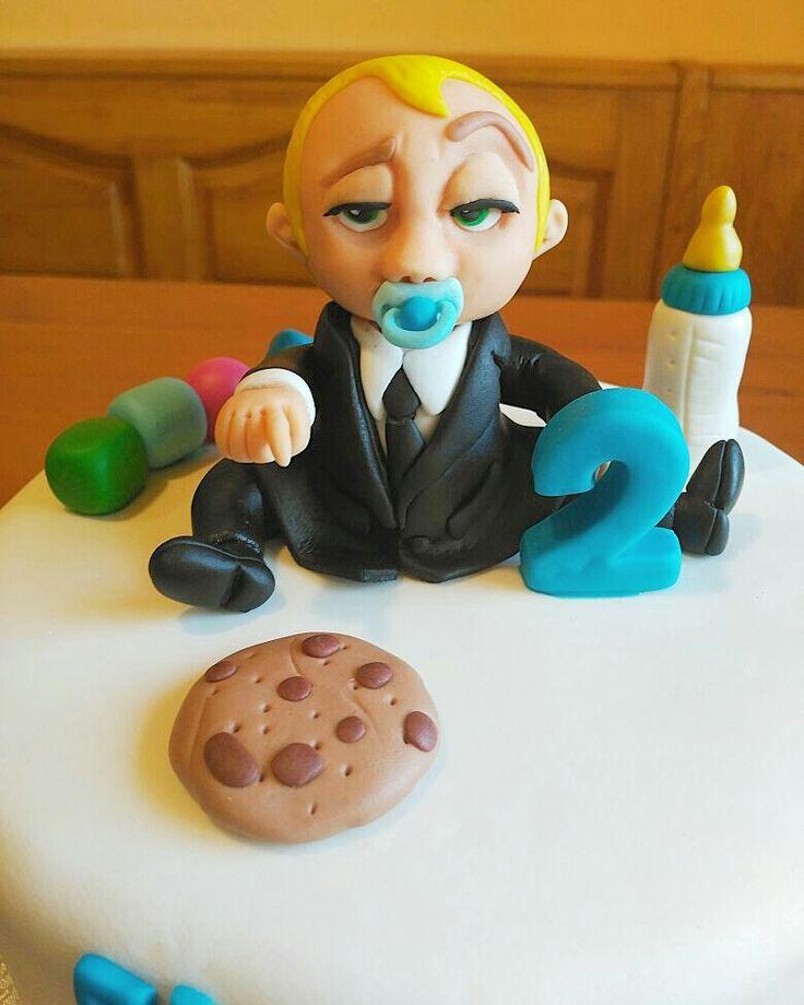 The Boss Baby inspired cake