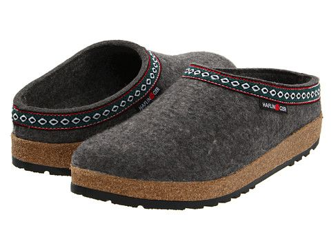Haflinger GZ Classic Grizzly Grey | I know they're ugly, but to slip on during the winter and walk the dog? | Clogs