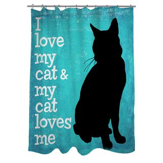 Thumbprintz I Love My Cat Shower Curtain | Overstock.com Shopping   The  Best Deals