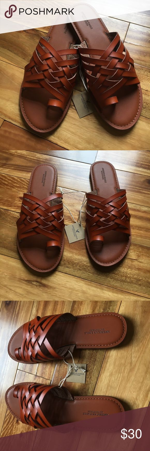American Eagle Outfitters Brown Sandals 8 NWT New with tags! Thanks so much for checking out this item today! We know that the shipping price is kinda ridiculous, so we suggest you bundle to get more for your money! You will also be saving money as well! Check out our bundle discount below! 💰reasonable offers accepted! American Eagle Outfitters Shoes Sandals
