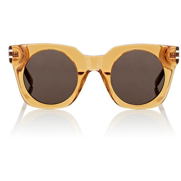 Marc Jacobs Women's 532/S Sunglasses ($139) ❤ liked on Polyvore featuring accessories, eyewear, sunglasses, orange, black lens sunglasses, marc jacobs, see through glasses, marc jacobs eyewear and orange glasses