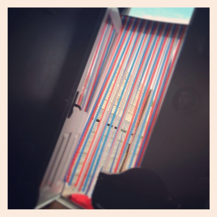 Retro fly curtain. Red, white and blue.